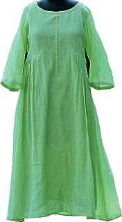 MerakiByPrianna Parrot Green Chanderi Kurti
