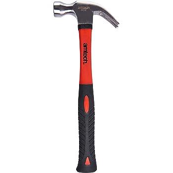Amtech Tools 8oz CLAW HAMMER Fibreglass Handle /& Drop Forged Steel Head