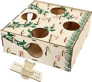 POPETPOP Drewniany Chomik Labirynt Chomik Tunel Zabawki Małe Zwierzę Z Drewna Dla Małego Chomika Myszy Myszoskoczków