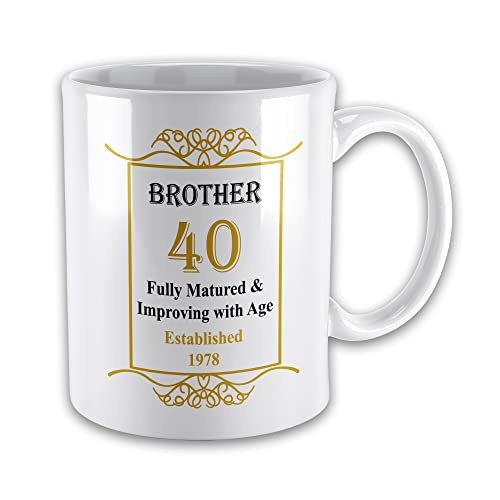 Brother 40th Birthday Established 1978 Year Mug