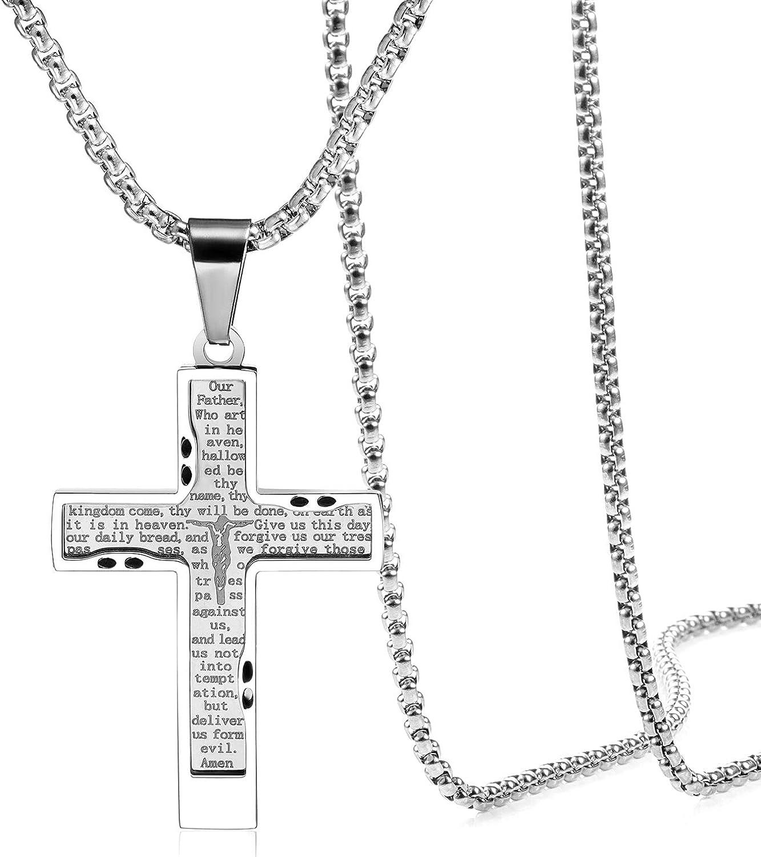 Cross Great interest Necklace for Men Women Lowest price challenge Pendant Stainless Pen Steel