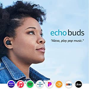 Echo Buds (1st Gen) – Wireless earbuds with immersive sound, active noise reduction, and Alexa