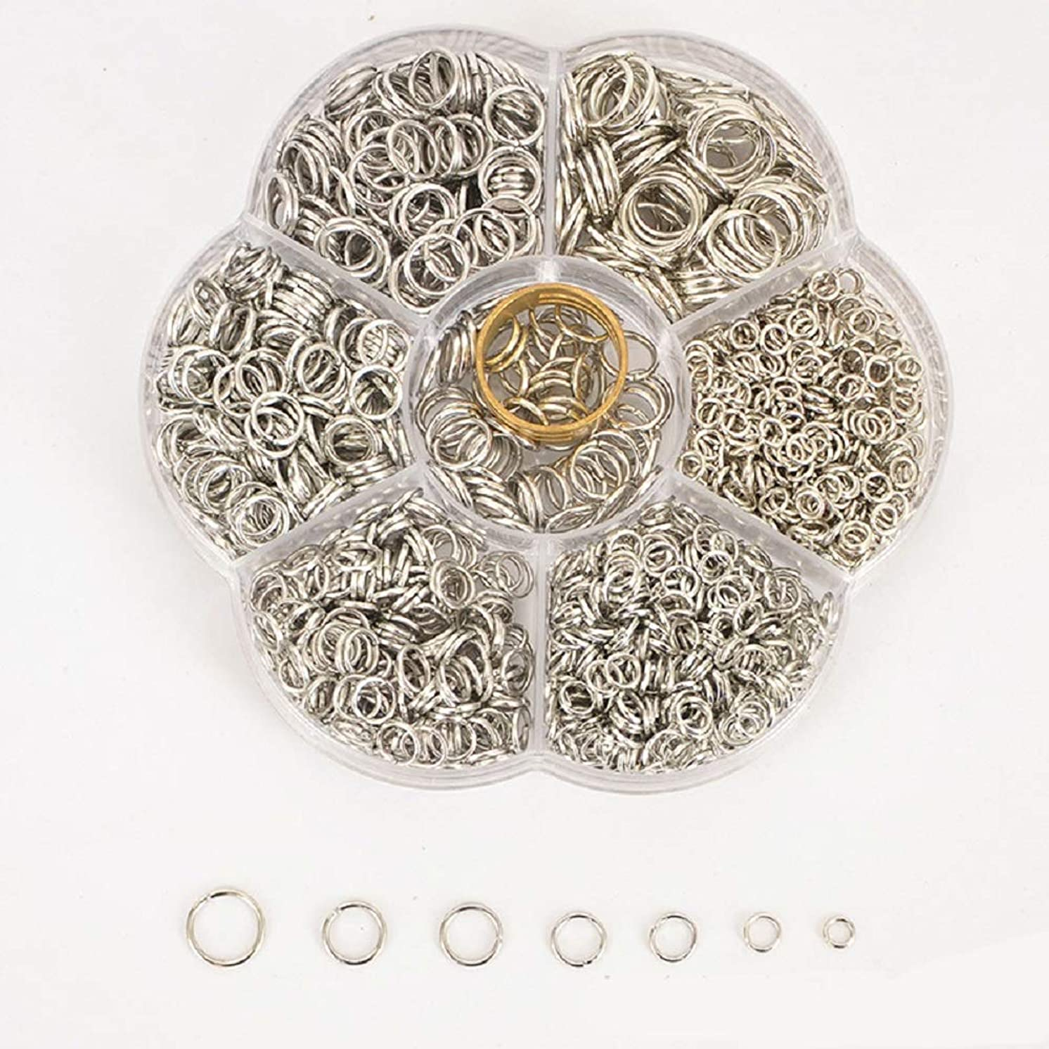 1500 Pcs Open Jump Rings,Silver Jump Rings,with Switch,Earring Hooks,Necklace Making Supplies,Stainless Steel Open Jump Rings Connectors.Silver Jump Rings for Jewelry Making (Silver)