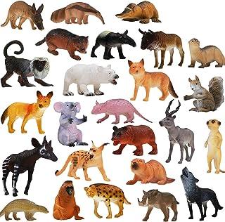 10 ASSORTITI MINI Giungla Zoo Animale in plastica Figure elefante tigre giraffa Toys