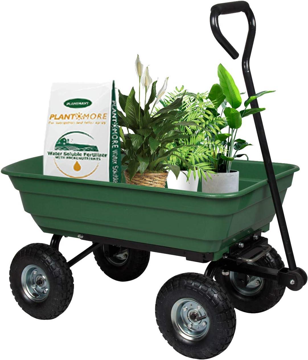 Mail order Garden Dump Cart Wagon Gardening a with Frame Mesa Mall Steel Trolley