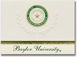 Signature Announcements Baylor University Graduation Announcements, Platinum style, Basic Pack 20 with Baylor U. Seal Foil