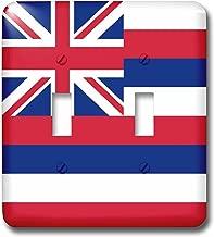 3dRose lsp_158328_2 علم هاواي الولايات المتحدة الأمريكية Usa أحمر وأبيض وأزرق مخطط يوني جاك مفتاح ربط مزدوج