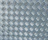 d-c-fix, Folie, Riffelblech hochglanz silber, 90 cm breit, je lfm