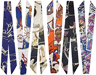 2/6/10Pack Bag Handbag Handle Ribbon Scarf for Package Band Hair Head Band Neck Scarf Bandana Fashion Gifts (6pack Colourf...