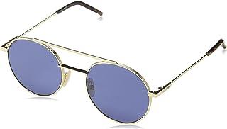 FENDI - FF 0221/S KU 000 Gafas de sol, Dorado (Rose Gold/Blue Avio), 52 para Hombre