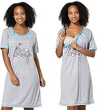 coton robe de nuit 2056 U 2 en 1 Maternit/é Mija allaitement