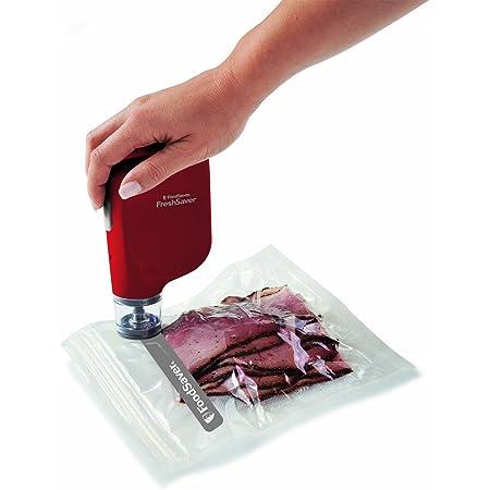 FoodSaver Vacuum Sealer FSFRSH0053 FreshSaver Handheld Sealing System, Red