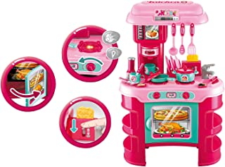 Kids Pretend Little Chef Toy Kitchen Toy Playset , Little Chef Toy Cooking Counter Top Play set w/ Stove , Sink & Kitchen Utensils - Kids Educational Toy - Deluxe Kitchen Set for Kids & Toddlers