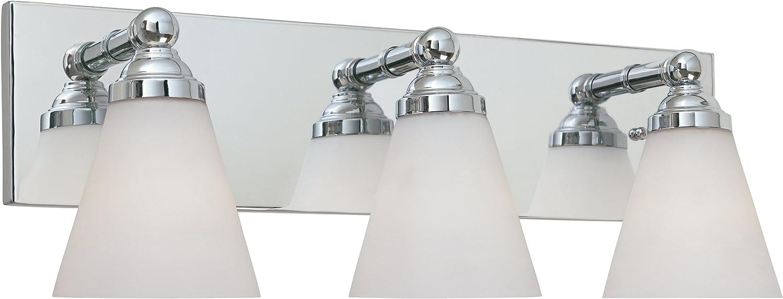 Designers Fountain 6493-CH 3 Light Bath Bar, Chrome