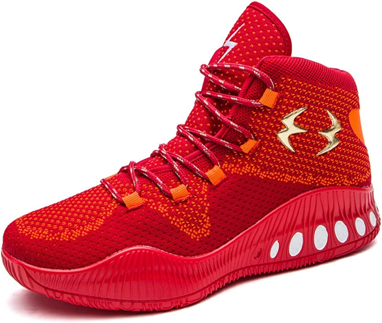 DANDANJIE Trainers Men's Basketball shoes Lace up Running shoes Cushioning Breathable Fabric Mesh Flat shoes