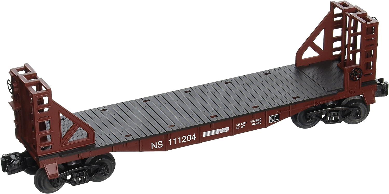 Bachmann Industries Flat Car with Buklhead Ends Norfolk Southern O Scale Train