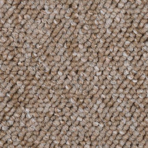 Teppichboden Auslegware Meterware Schlinge beige 400 und 500 cm breit, verschiedene Längen