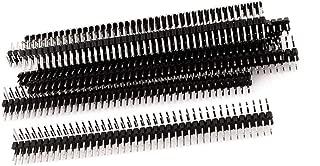 Liberty.10PCS 40Pin 2.54mm Dual Row Right Angle PCB Male Pin Header Strip
