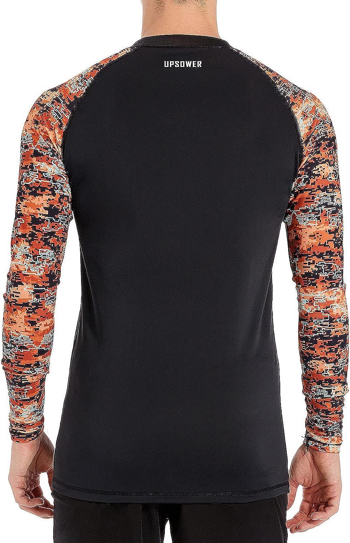 Men's Swim Shirts Rash Guard Long Sleeve Shirts UPF50+ Sun Protection SPF T-Shirts Fishing Hiking Swimming