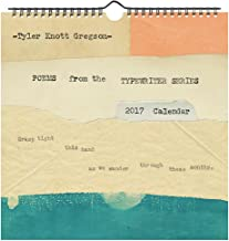 Tyler Knott Gregson Poems from the Typewriter Series 2017 Wall Calendar