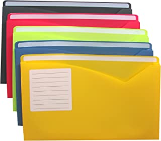 C-Line Write-On Poly File Jackets, Letter Size, Expands 1 Inch, Assorted Colors, 10 per Pack (63160)