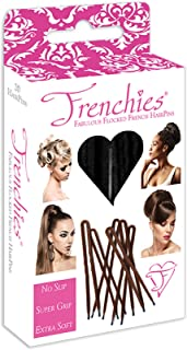 Frenchies Ultra Flocked Extra Soft French Twist Hair Pins: The French Hair Pins for Buns, Updo Hairstyles, Hair Extensions + Wigs - 20 Count Black