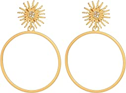 Sun Post Gypsy Hoop Earrings