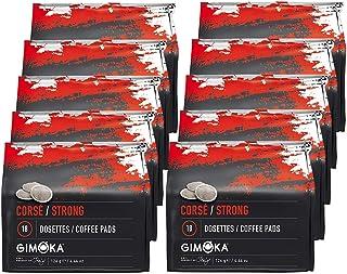 Gimoka Coffee 180 Senseo Cápsulas de Cafe Compatible (Strong (Paquete de 10x18 Pads))