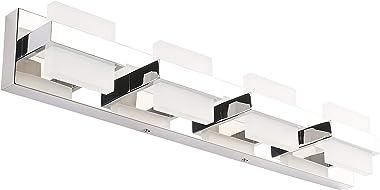 SOLFART Modern 4 Lights LED Vanity Lights for Bathroom Wall Light Fixture Over Mirror