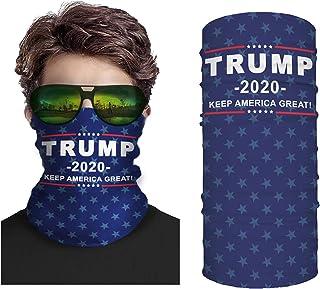 Unisex Trump 2020 Face Mask Neck Gaiter Windproof Mask Dust Outdoor Balaclava Scarf Bandana