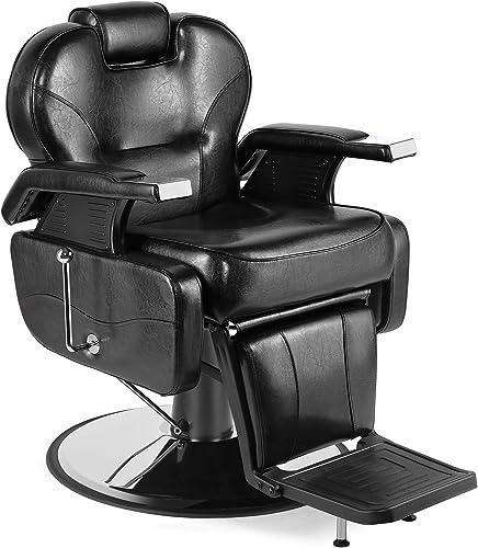 high quality Artist Hand Barber Chair Hydraulic Recline Barber Chairs Salon Chair for Hair popular Stylist Tattoo Chair Heavy Duty Barber Salon Equipment sale (Black) outlet sale