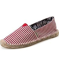 04621ce7587e2 Alexis Leroy Women s Traditional Flat Marine Stripe Canvas Es ..