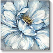 Abstract Flower Canvas Wall Art: Floral Blooms Artwork Hand Painted Painting on Canvas for Living Room (36'' x 36'' x 1 Pa...
