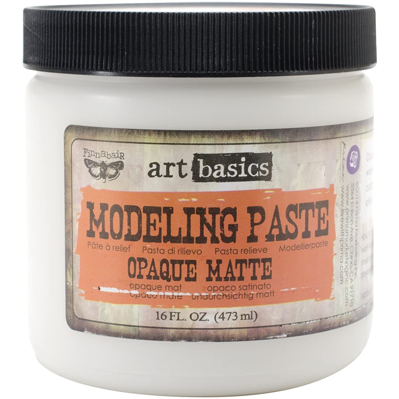 Prima Marketing 961350 Art Basics Modeling Paste 1, 6-Ounce, Opaque Matte