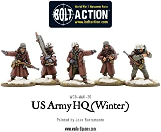 Warlord Games, US Army HQ (Winter), 28mm Bolt Action Wargaming figures