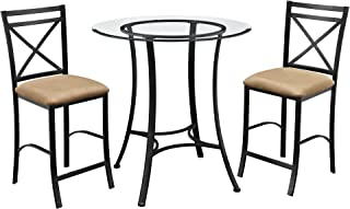 glass top pub table sets