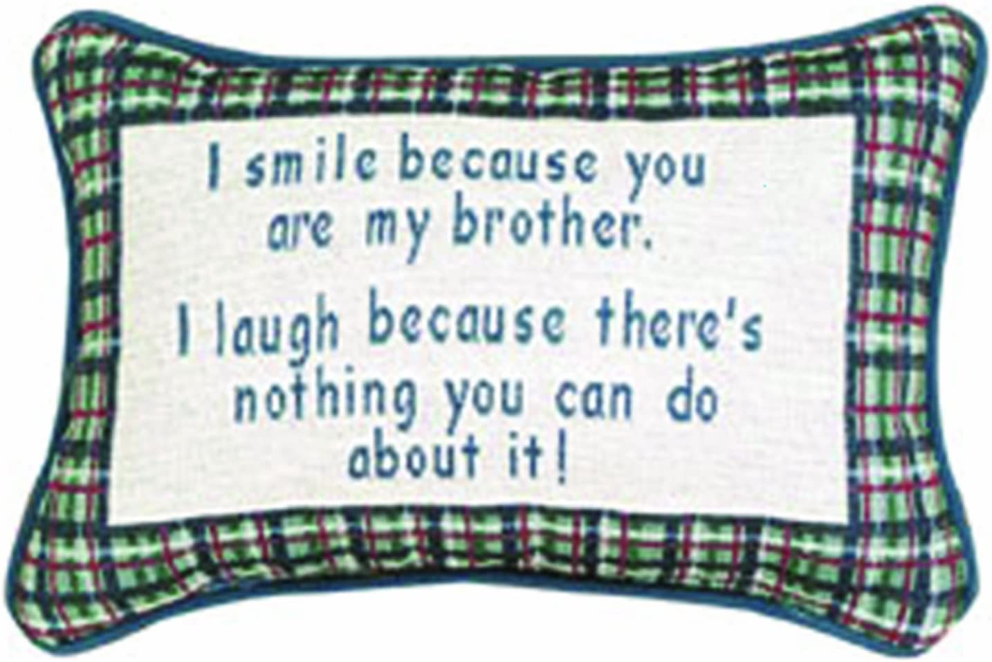 Manual I Smile Laugh 5% OFF Brother Decorative 12.5 Regular store 8.5-Inch x Throw