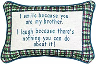 Manual I Smile I Laugh/Brother 12.5 x 8.5-Inch Decorative Throw Pillow