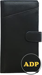 Personalized Monogrammed Black Leather RFID Travel Wallet
