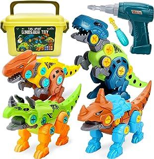 Dreamon Take Apart dinosaurus speelgoed voor kinderen met opbergdoos elektrische boor, doe-het-zelf bouwset educatieve STE...