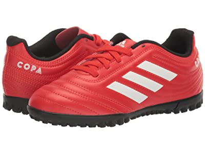 adidas Kids Copa 20.4 TF J Soccer (Little Kid/Big Kid) (Active Red/White/Black) Kids Shoes