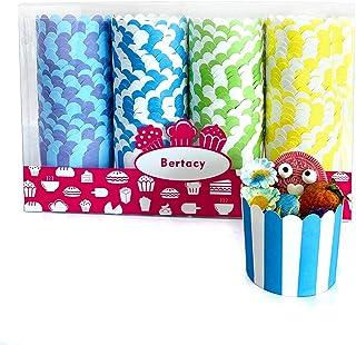 Bertacy 100Pcs Caissettes Cupcake en Papier Pour Muffins Gâteau Moule Décoration Mignon Dessert Baking Cups Anniversaire S...