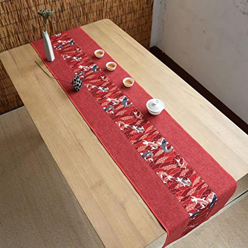 Kitzen Unterschrift Baumwolle Tischl er Buddhistischen Stimmung Tee Tisch Kissen Ethnischen Stil Hochwertige Tisch Flagge Bett L er Rot , 30320cm