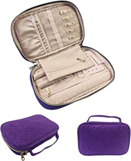 Gold Fortune Travel Jewelry Storage Cases Carrying Organizer Bag for Women Necklace Earrings Rings Bracelet Brooches
