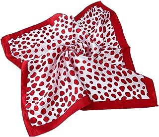 Premium Silk Feel Animal Print Square Satin Scarf 20