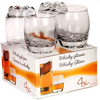 4 Stück Whiskey-Gläser Whisky Glas Set a 255ml Bourbon Scotch