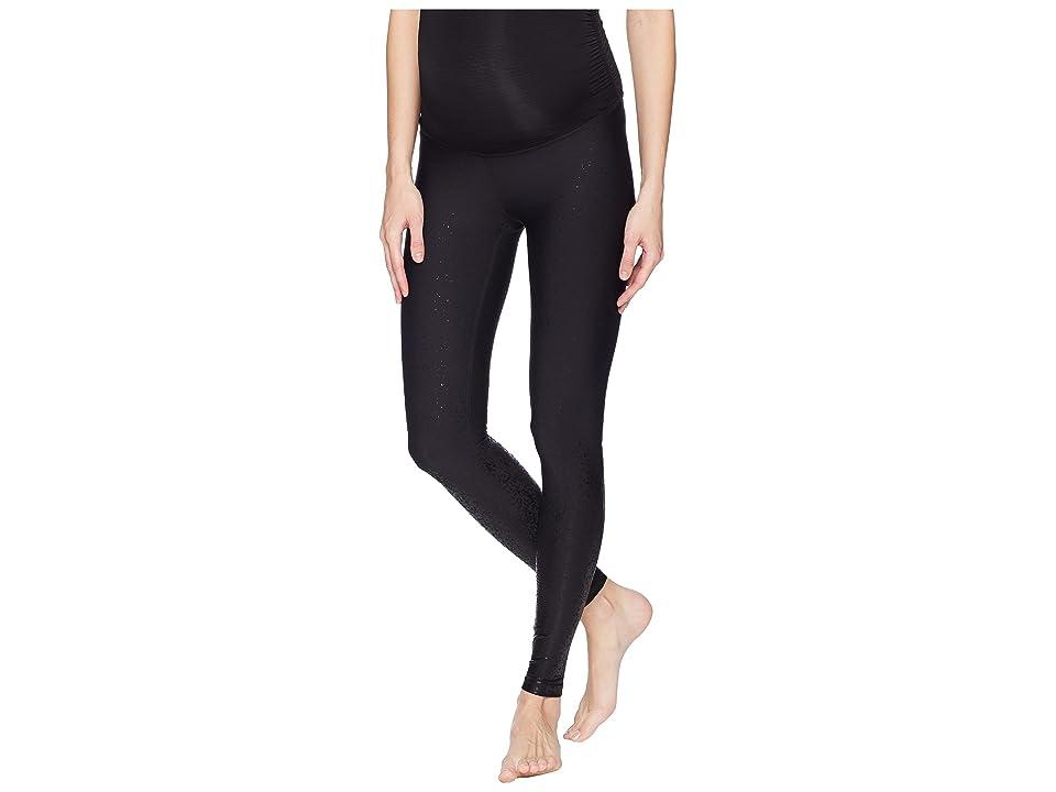 Beyond Yoga Maternity Allow Ombre Midi Leggings (Black Foil Speckle) Women