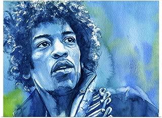 GREATBIGCANVAS Poster Print Jimi Hendrix by Kelly Eddington 16