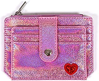 RFID Blocking Holographic Glitter Credit Card Holder Slim Card Case Wallet Women Girls