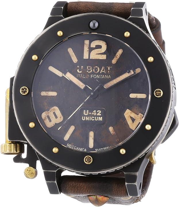 Orologio vintage militare u-boat 8088, orologio da polso uomo